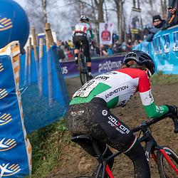 2020-01-01 Cycling: dvv verzekeringen trofee: Baal: Hungarian national champion Kata Blanka Vas chasing italian national champion Eva Lechner