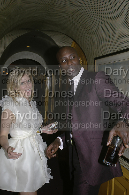 Brooke de Campo and Oswald Boateng,  Charles Finch and Chanel 7th Anniversary Pre-Bafta party to celebratew A Great Year of Film and Fashiont at Annabel's. Berkeley Sq. London W1. 10 February 2007. -DO NOT ARCHIVE-© Copyright Photograph by Dafydd Jones. 248 Clapham Rd. London SW9 0PZ. Tel 0207 820 0771. www.dafjones.com.