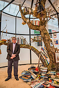 Mark Dion in The Library for the Birds of London, 2018 - Mark Dion: Theatre of the Natural World at the Whitechapel Gallery. This is the first major UK survey show of the American artist and includes a new work made especially for London. He is an 'explorer, collector, activist and conjuror of magical environments', and invites vistors to embark on a journey.
