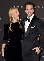 Sam Taylor Johnson and Aaron Taylor attend the 2018 LACMA Art + Film Gala at LACMA on November 3, 2018 in Los Angeles, CA, USA. Photo by Lionel Hahn/ABACAPRESS.COM