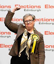Edinburgh, Scotland, UK. 12th December 2019. Joanna Cherry MP after winning Edinburgh South West constituency at Parliamentary General Election Count at the Royal Highland Centre in Edinburgh. Iain Masterton/Alamy Live News