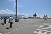 Airzena Georgian Airways Boeing 737-700 at Batumi international airport