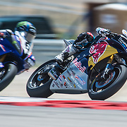 August 3, 2013 - Tooele, UT - JD Beach leads Cameron Beaubier during Daytona Sportbike Race 1 at Miller Motorsports Park. Beaubier won with Beach finishing in the third position.