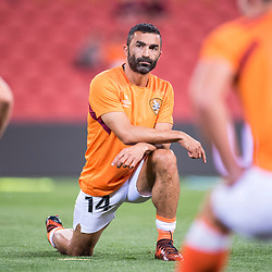 BRISBANE, AUSTRALIA - OCTOBER 13: Fahid Ben Khalfallah of the Roar warms up during the Round 2 Hyundai A-League match between Brisbane Roar and Adelaide United on October 13, 2017 in Brisbane, Australia. (Photo by Patrick Kearney)