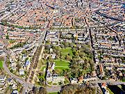 Nederland, Noord-Holland, Haarlem;  03-23-2020; Haarlem, Kleine Hout (de Haarlemmerhout) met Provinciehuis in Paviljoen Welgelegen (Provincie Noord-Holland aan de Dreef).<br /> Haarlem, Kleine Hout (the Haarlemmerhout) with Provincial House in Pavilion Welgelegen (Province of North Holland on the Dreef).<br /> <br /> luchtfoto (toeslag op standard tarieven);<br /> aerial photo (additional fee required)<br /> copyright © 2020 foto/photo Siebe Swart