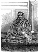 A Qadi (Cadi or Kadi), a Judge who makes decisions according to Islamic Shari'ah law: Khartoum, Sudan late 19th century. Engraving