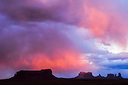 Storm clouds above Monument Valley, Arizona