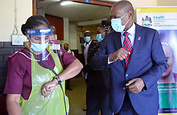 SOUTH AFRICA - Durban - 12 May 2020 - Minister of Health Dr Zweli Mkhize along with MEC of Health Nomagugu Simelane- Zulu celebrated the International Nurses Day is organised on 12 May 2020 at King Edward Hospital in Umbilo, Durban in celebrate the birth anniversary of Florence Nightingale.<br /> Picture: Motshwari Mofokeng/African News Agency (ANA)