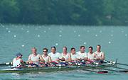 Lucerne, Switzerland. 1995 FISA WC III, Lake Rotsee, Lucerne,<br /> GER M8+<br /> [Mandatory Credit. Peter SPURRIER/Intersport Images]<br /> <br /> Image scanned from Colour Negative