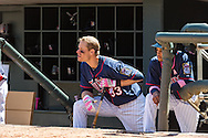 Justin Morneau #33 of the Minnesota Twins looks on from the dugout during a game against the Baltimore Orioles on May 12, 2013 at Target Field in Minneapolis, Minnesota.  The Orioles defeated the Twins 6 to 0.  Photo: Ben Krause