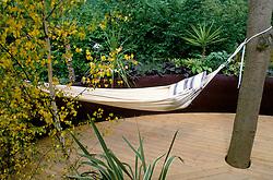 Hammock and decking<br /> 'Pod' garden