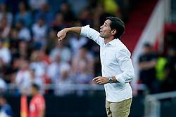 August 20, 2018 - Valencia, Valencia, Spain - Marcelino Garcia Toral head coach of Valencia CF reacts at the dugout during the La Liga match between Valencia CF and Club Atletico de Madrid at Mestalla on August 20, 2018 in Valencia, Spain  (Credit Image: © David Aliaga/NurPhoto via ZUMA Press)