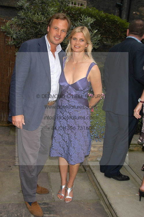 The MARQUESS & MARCHIONESS OF MILFORD HAVEN at the Tatler Summer Party in association with Moschino at Home House, 20 Portman Square, London W1 on 29th June 2005.<br /><br />NON EXCLUSIVE - WORLD RIGHTS