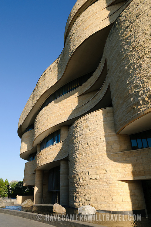 Exterior of the Smithsonian Institution's National Museum of the American Indian