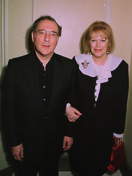 Playwright  HAROLD PINTER and his wife LADY ANTONIA FRASER at a party in London on 5th December 1997.MEC 29