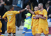 Football - Scottish Premier League - Motherwell vs Celtic<br /> <br /> Micheal Higdon of Motherwell celebrates his goal during the Motherwell vs Celtic Scottish Premier League match at Fir Park, Motherwell on November 6th 2011<br /> <br /> <br /> Ian MacNicol/Colorsport