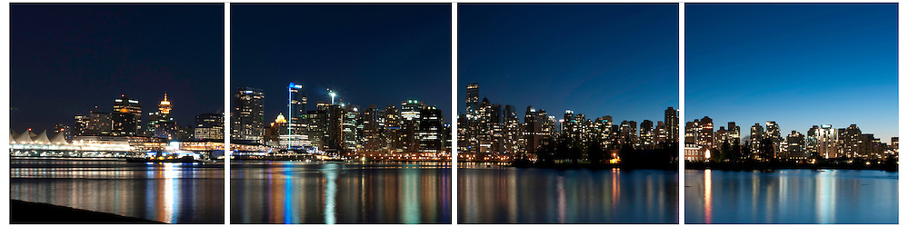 Skyline at sunset, Vancouver, British Columbia