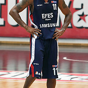 Efes Pilsen's Bootsy THORNTON during their Turkish Basketball league Play Off semi final second leg match Besiktas between Efes Pilsen at the BJK Akatlar Arena in Istanbul Turkey on Wednesday 12 May 2010. Photo by Aykut AKICI/TURKPIX
