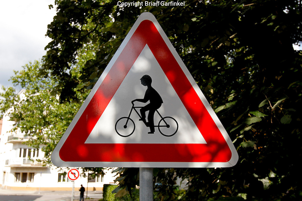 A Bicycle Sign in Zilina, Slovakia on Saturday July 2nd 2011. (Photo by Brian Garfinkel)