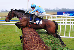 Un De Sceaux and jockey Paul Townend jump the last to win the Devenish Chase during BoyleSports Irish Grand National Day of the 2018 Easter Festival at Fairyhouse Racecourse, Ratoath, Co. Meath.