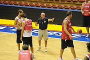 Trieste, 08/08/2012<br /> Baslet, Nazionale Italiana Maschile Senior<br /> Allenamento<br /> Nella foto: Luca Dalmonte<br /> Foto Ciamillo
