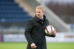 Falkirk's manager Gary Holt at the end.<br /> Falkirk 1 v 0 Queen of the South, Scottish Championship game today at the Falkirk Stadium.<br /> © Michael Schofield.