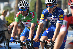 October 12, 2018 - Selcuk, Turkey - Ariel Maximiliano Richeze (Left) of Argentina and Team Quick Step Floors in Green Sprint Jersey ahead of the fourth stage - the Sportoto Stage 205.5km Marmaris - Selcuk, of the 54th Presidential Cycling Tour of Turkey 2018. .On Friday, October 12, 2018, in Selcuk, Turkey. (Credit Image: © Artur Widak/NurPhoto via ZUMA Press)