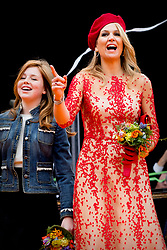 Queen Maxima and Princess Alexia attending King's Day Celebrations in Groningen, Netherlands, on April 27, 2018. Photo by Robin Utrecht/ABACAPRESS.COM