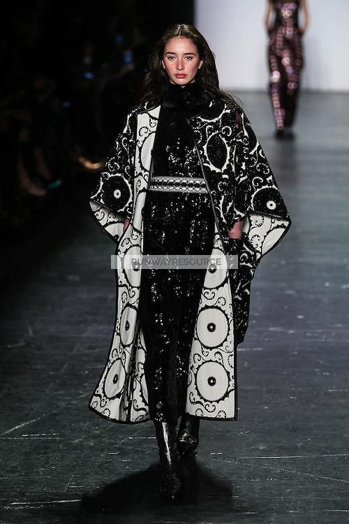 Karime Bribiesca walks the runway wearing Vivienne Tam Fall 2016 during New York Fashion Week on February 15, 2016