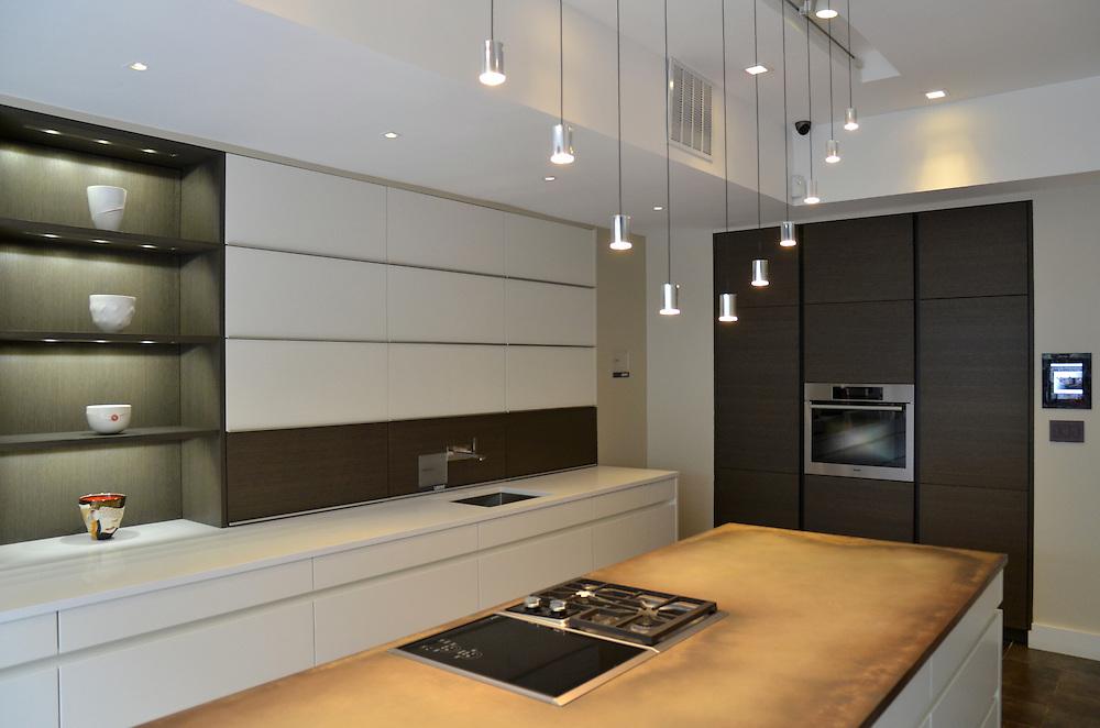 Photographs of Leicht kitchen showroom in Manhattan, New York.