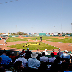 February 25, 2011; Bradenton, FL, USA; A general view during a spring training exhibition game between the Pittsburgh Pirates and the State College of Florida Manatees at McKechnie Field. The Pirates defeated the Manatees 21-1. Mandatory Credit: Derick E. Hingle