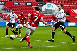 Chris Martin of Bristol City crosses - Rogan/JMP - 10/01/2021 - Ashton Gate Stadium - Bristol, England - Bristol City v Portsmouth - FA Cup.