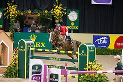 LAS VEGAS - FEI Weltcup Finale Dressur und Springen 2009<br /> <br /> WARD McLain, Sapphire<br /> FEI World Cup Jumping Final II - Jump-Off/Stechen<br /> <br /> Las Vegas, Thomas and Mack Center<br /> 18. April 2009<br /> © www.sportfotos-lafrentz.de/Stefan Lafrentz