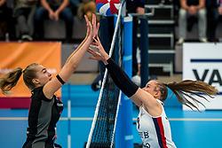 29-09-2018 NED: Supercup Sliedrecht Sport - Eurosped, Sliedrecht<br /> Sliedrecht takes the first price of the new season / Laura de Zwart #10 of Eurosped, Eline Timmerman #9 of Eurosped