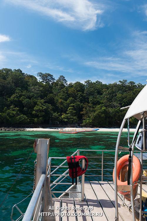 Life Jacket On Platform Off Pulau Payar Marine Park, Malaysia