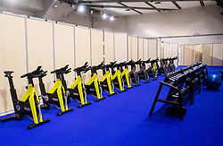 Fitness room at the 2017 IIHF Men's World Championship, on May 11, 2017 in AccorHotels Arena in Paris, France. Photo by Vid Ponikvar / Sportida