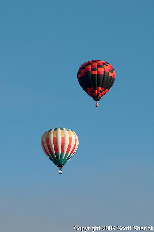 Hot air balloons at the Albuquerque Balloon Fiesta in New Mexico.