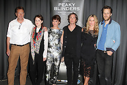 © Licensed to London News Pictures. 21/08/2013, UK. Steven Knight; Sophie Rundle; Helen McCrory; Cillian Murphy; Annabelle Wallis; Otto Bathurst, Gala Screening of episode 1 of new BBC Two gangster drama 'Peaky Blinders', BFI Southbank, London UK, 21 August 2013. Photo credit : Richard Goldschmidt/Piqtured/LNP