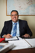 Armando Gomez poses for his portrait during his California State Assembly marketing campaign at his home in Milpitas, California, on February 28, 2014. (Stan Olszewski/SOSKIphoto)