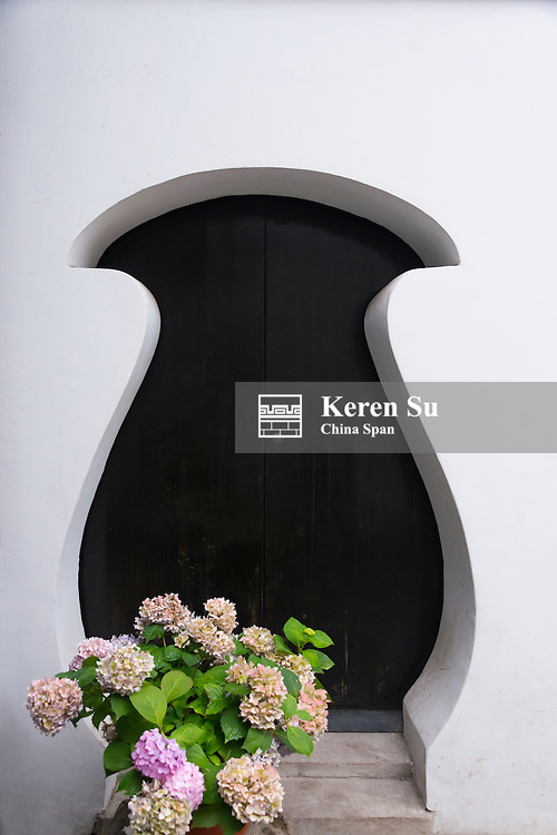 Vase shaped door in Yuyuan Garden, Shanghai, China