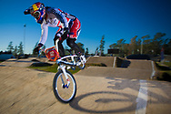 # 12 (READE Shanaze) GBR at the UCI BMX Supercross World Cup in Santiago del Estero, Argentina.