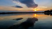 Wdzydze Kiszewskie, 2011-07-09. Zachód słońca nad Jeziorem Wdzydze