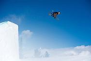 Alex Bellemare during Ski Slopestyle Practice during 2015 X Games Aspen at Buttermilk Mountain in Aspen, CO. ©Brett Wilhelm/ESPN