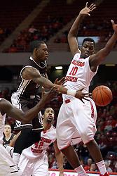 29 December 2014: Jordan Wilson, John Jones  during an NCAA non-conference interdivisional exhibition game between the Quincy University Hawks and the Illinois State University Redbirds at Redbird Arena in Normal Illinois.