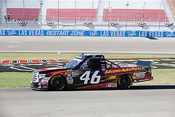 September 14, 2018 - Las Vegas, NV, U.S. - LAS VEGAS, NV - SEPTEMBER 14: Riley Herbst (46) Advance Auto Parts Kyle Busch Racing Toyota Tundra  during qualifying for the World of Westgate 200 NASCAR Camping World Truck Series Playoff Race on September 14, 2018 at Las Vegas Motor Speedway in Las Vegas, NV.  (Photo by Marc Sanchez/Icon Sportswire) (Credit Image: © Marc Sanchez/Icon SMI via ZUMA Press)
