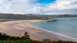 Beach, Gaineamh Mhor,  outside Gairloch village on Loch Gairloch in Wester Ross, Scotland, UK
