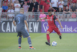 August 12, 2018 - Toronto, Ontario, Canada - MLS Game at BMO Field 2-3 New York City. IN PICTURE: JUSTIN MORROW,ANTON TINNERHOLM (Credit Image: © Angel Marchini via ZUMA Wire)