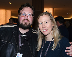 "Edinburgh International Film Festival 2019<br /> <br /> Pictured: Christopher Schneider (cinematographer) and Sasha Collington (Director) of ""Love Type D""<br /> <br /> Alex Todd 