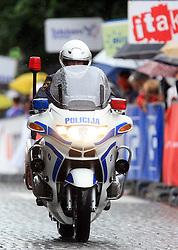 Police motorcycle in Novo mesto in last 4th stage of the 15th Tour de Slovenie from Celje to Novo mesto (157 km), on June 14,2008, Slovenia. (Photo by Vid Ponikvar / Sportal Images)/ Sportida)