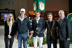 Smolders Harrie, NED, best rider of the show<br /> Grand Prix Rolex<br /> CHI de Genève 2017<br /> © Hippo Foto - Dirk Caremans<br /> 10/12/2017
